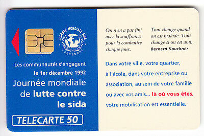 Variete Telecarte France .. 50U F309 So3 Sida Puce Decalee Emplacement R° C.?€