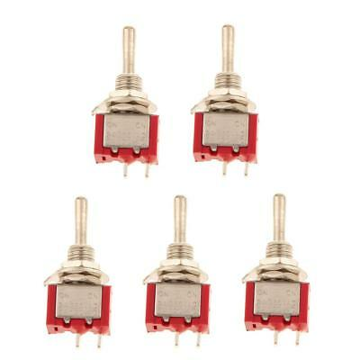 5 x On/Off Mini Miniature Electric Toggle Switches Switch Car Dash Boat SPST
