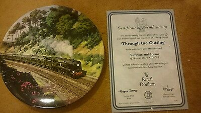 Limited Edition 'through the cutting Royal Doulton plate+certificate steam train