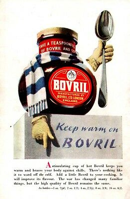 BOVRIL -- Keep Warm On BOVRIL   (1946 Advertisement)