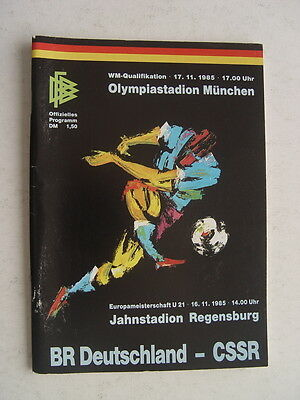 West Germany v CSSR 1985 World Cup IN mUNICH