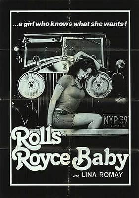 ROLLS ROYCE BABY original 1978 movie poster LINA ROMAY