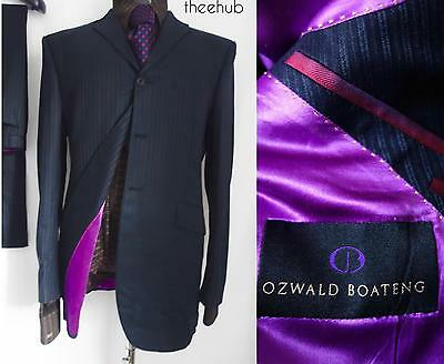 Bespoke Savile Row Ozwald Boateng Couture 2 Piece Suit Coathanger & Suit Carrier