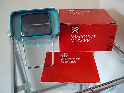 Vintage 1960's PATERSON VISCOUNT SLIDE VIEWER in Original Box - Needs A Bulb!
