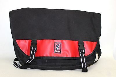 CHROME Men's Black/Red Single Strap Handle Messenger Style Crossbody Bag Large