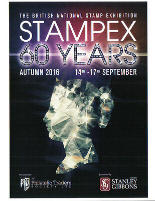"""2016 Autumn London """"STAMPEX"""" - 60th ANNIVERSARY ~~ A5 POSTER ~~"""