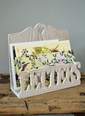 Shabby Vintage Country Chic Wooden Letter Post Rack Home Decor Gift