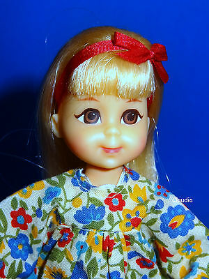 Vintage Tutti friend BLONDE CHRIS DOLL NUDE w/ Red Hairband Near Mint VHTF