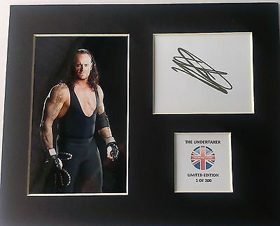 Limited Edition The Undertaker Wrestling Legend Signed Mount Display