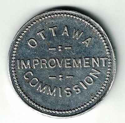 Ottawa Improvement Commission Good For 3/4 Yd Load Of Filling Aluminum Token