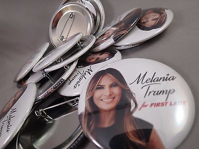 WHOLESALE LOT OF 12 MELANIA TRUMP FOR FIRST LADY PHOTO BUTTONS President $ 2016