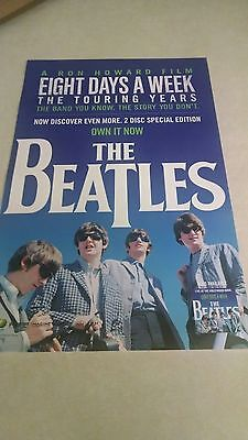 """Beatles """"8 Days A Week / Touring Years"""" MINT Cndt PROMO ONLY POSTER !! L@@K !!"""