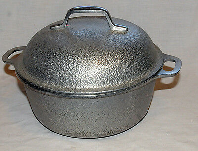 Silver Seal 2 Quart Pot, Dutch Oven, Hammered Aluminum, With Lid