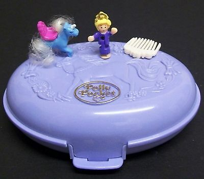 Vintage Polly Pocket - Unicorn Meadow, 100% Complete,1995.