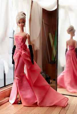 2016 Barbie Fashion Model Collection Glam Gown Silkstone Barbie!! Beautiful!!