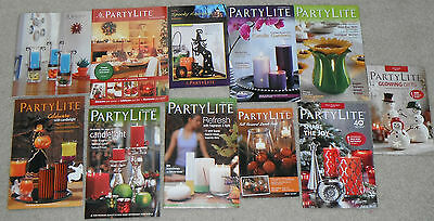 PARTYLITE consultant catalogs reference 2006-2013 retired Lot of 11
