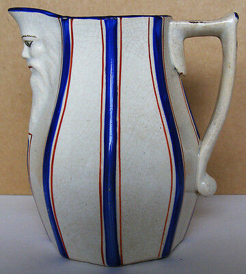 Llanelly/Gaudy Welsh Pottery - Rare and Unusual Mask Face Jug - circa 1850