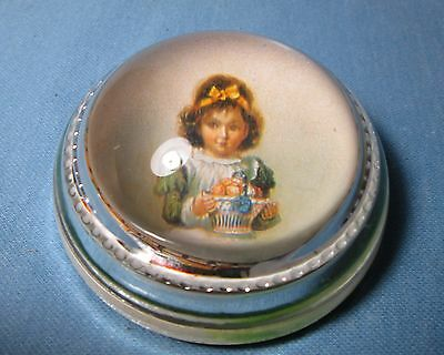 Antique Glass PAPERWEIGHT of VICTORIAN CHILD Picture
