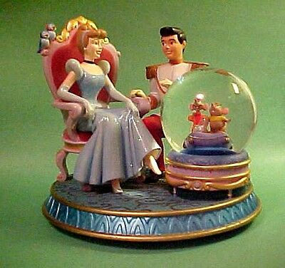 CINDERELLA and the PRINCE MUSIC BOX with SNOW GLOBE