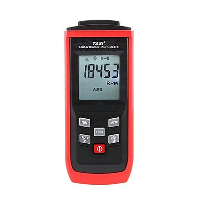 TASI Digital Non-contact RPM Tach Photo Laser Tachometer Professional Switchover