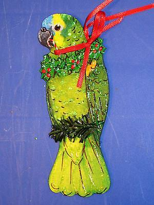AMAZON PARROT CHRISTMAS TREE ORNAMENT Blue Fronted