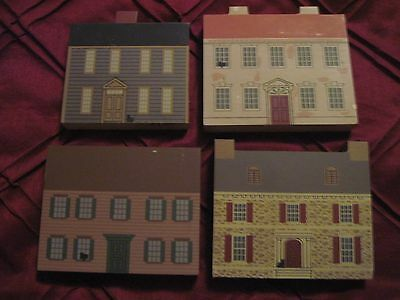 Four 1992 Cat's Meow Houses from the Signers of the Declaration Series..