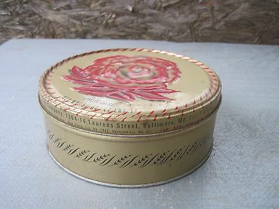 Vintage Shabby Shirley Jean FRUIT CAKE Metal Tin.. Baked in Baltimore, MD..