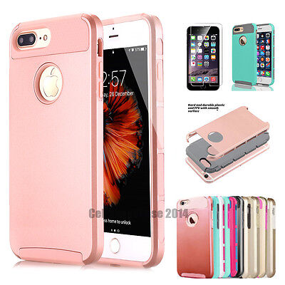For Apple iPhone 6s 4.7 7 Plus Cover Case Shockproof Hybrid Rugged Rubber Hard