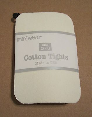 NEW! BabyGirl Cotton Tights Ivory 0/Newborn-3mo-6months NWT Winter Easter Dressy