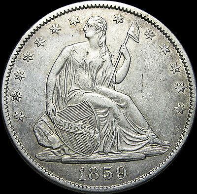 1859-O Seated Liberty Half Dollar ---- STUNNING TYPE COIN ---- #D338
