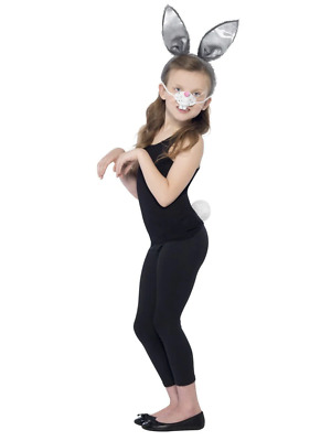 Animal Bunny Rabbit Kit Costume Fancy Dress Ears, Nose And Tail Accessory