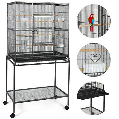 """Bird Parrot Cage Chinchilla Cockatiel Conure Large W/Stand Overall 32""""x18""""x64"""""""