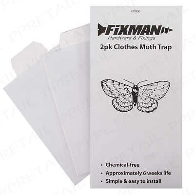 Hanging Moth Trap Set Clothes Sticky Sheet Insect/Bug/Pest Killer Catch Catcher