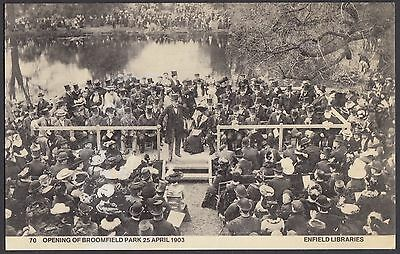 Opening of Broomfield Park,  Enfield 1903   Repro Postcard  Unposted  (172)
