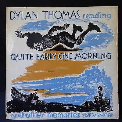 DYLAN THOMAS Quite Early One Morning CAEDMON LITERARY UK Press LP POETRY