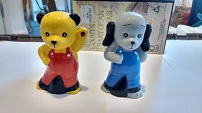 Sooty And Sweep Squeaky Toys Titan Toys 1995,   4.5 Inches In Height