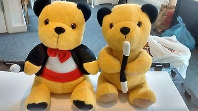 Sooty, Sweep And Soo Glove Puppets And 2 Sooty 12 Inch Soft Toys. Patsy B