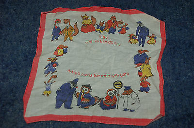 TUFTY CLUB HANDKERCHIEF - cotton hankie, 1970s