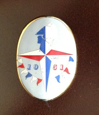 Porcelain/China Badge of The Festival of Britain 1951