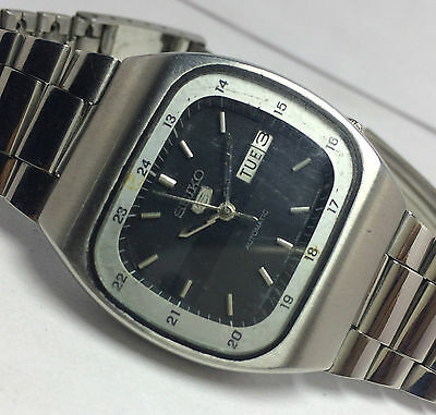 Vintage Seiko 5 Automatic Railway Time 17 Jewels Day/date Mens Excellent Watch