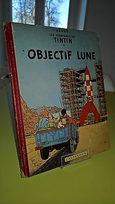 Tintin Objectif Lune B8 1953 Dos Rouge Eo