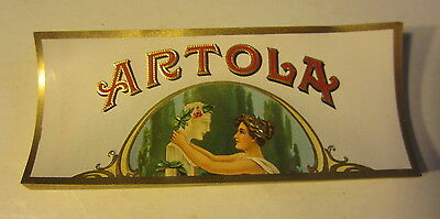 Lot of 50 Original Old Antique ARTOLA - CIGAR End LABELS - Greek Woman & Statue