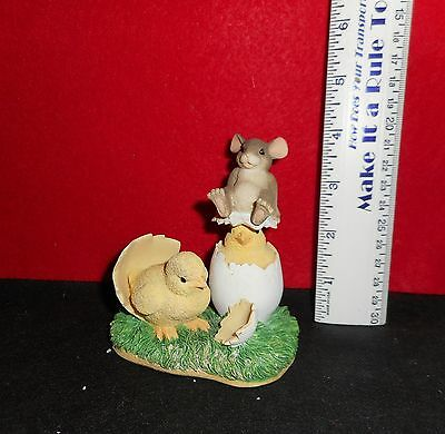 """Charming Tails    [  What's Hatchin? ]   4  """" Tall   Figurine"""