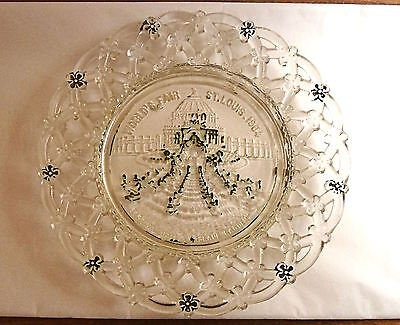 World Fair ST. LOUIS 1904 Glass Plate Embossed Arcade & Hall