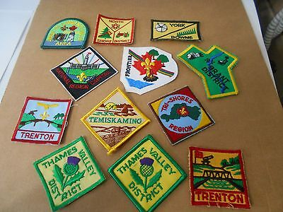 (Rd1-R) 109 Different Listed Ontario Scout Badges Plus Four Duplicates  Unused