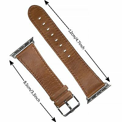 New Brown Heritage Luxury Leather Watch Band Strap Bracelet Classic Apple 42mm
