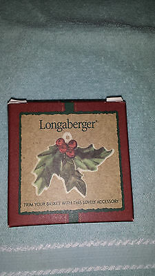 Longaberger Christmas Holly Tie On