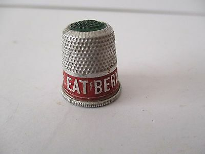 Vintage Advertising Thimble - Eat Bermaline Bread