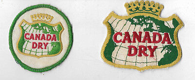 LOT Of 2 Vintage 1970s CANADA DRY Soda PATCHES Embroidered
