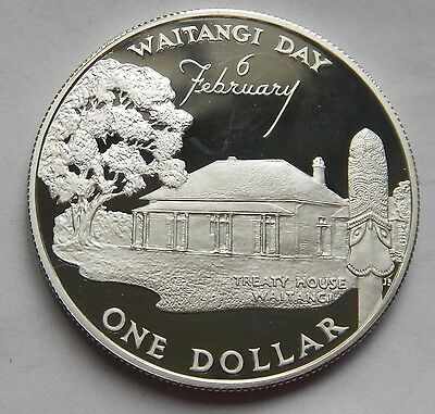 New Zealand Dollar $1 1977 Waiting Day SILVER PROOF KM#46a